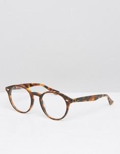 Круглые очки Ray-Ban 0RX2180V - Коричневый