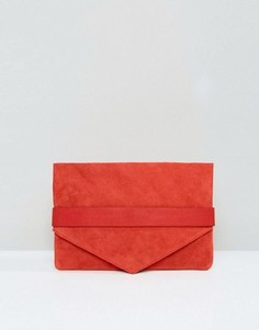 Замшевый клатч Selected Femme Raddia - Красный
