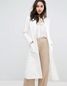 Легкое длинное пальто с добавлением шерсти Helene Berman - Кремовый