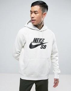 Худи бежевого цвета с меланжевой отделкой и логотипом Nike SB 846886-141 - Бежевый