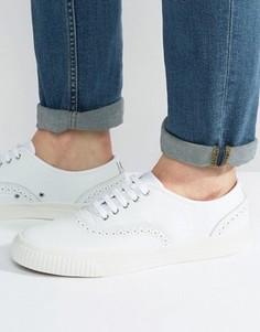 Кожаные кроссовки-броги Fred Perry Barson - Белый