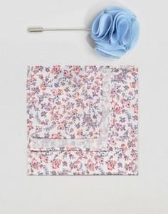 Галстук-бабочка и платок для нагрудного кармана с розами Gianni Feraud Liberty - Розовый