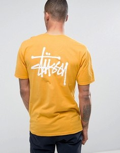 Футболка с логотипом Stussy - Желтый