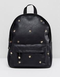 Рюкзак с отделкой заклепками Yoki Fashion - Черный