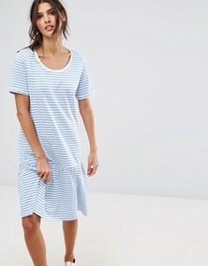 Трикотажное платье в полоску Selected - Мульти