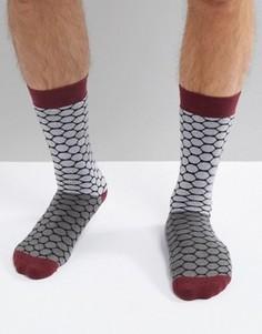 Двухцветные носки в горошек Ted Baker Golf - Синий
