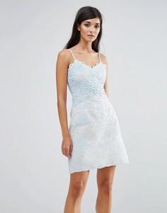 Кружевное платье мини Aijek - Синий