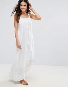 Пляжное платье макси с вышивкой Anmol - Белый