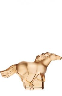"Скульптура Kazak ""Gold Horse"" Lalique"