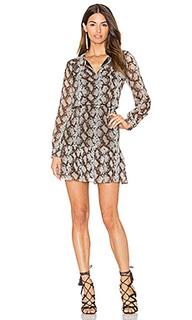 Мини платье с отделкой в мелкий рубчик sellia - Greylin