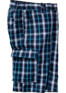 Бермуды карго стандартного покроя (темно-синий/белый в клетку) Bonprix