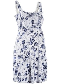 Мода для беременных: трикотажное платье (белый/ночная синь в цветочек) Bonprix