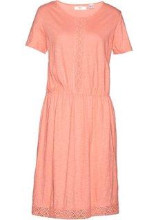 Платье с кружевной отделкой (лососево-розовый) Bonprix