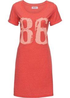 Трикотажное платье (коралловый меланж) Bonprix