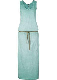 Трикотажное платье (бирюзово-камышовый) Bonprix