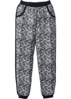 Трикотажные брюки (черный с узором) Bonprix