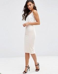 Платье-комбинация миди с мягким топом ASOS - Мульти