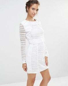 Кружевное платье мини Boohoo - Белый