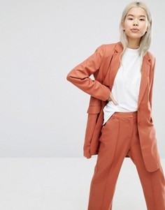 Удлиненный блейзер ADPT - Оранжевый