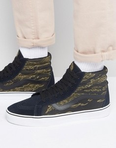 Черные кроссовки с камуфляжным принтом Vans Sk8-Hi Reissue VA2XSBM61 - Черный
