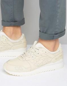 Кремовые кожаные кроссовки Asics Gel-Lyte III H7M4L 0202 - Кремовый