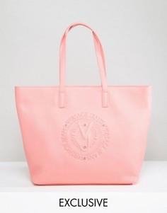 Сумка-тоут с тиснением Versace Jeans - Оранжевый