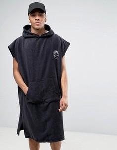 Серферское полотенце с капюшоном ONeill - Черный Oneill
