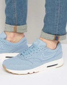 Голубые премиум-кроссовки Nike Air Max 1 898009-401 - Синий