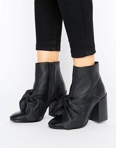 Кожаные ботинки ASOS EDIE - Черный