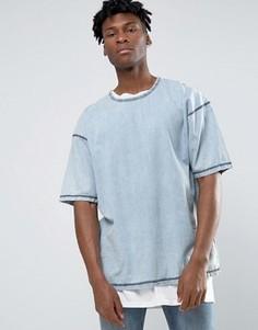 Джинсовая oversize‑футболка Other UK - Синий