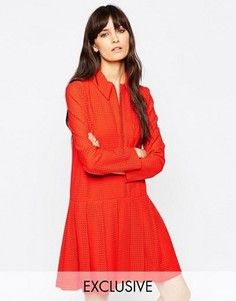 Платье с воротничком Le Kilt for ASOS - Красный