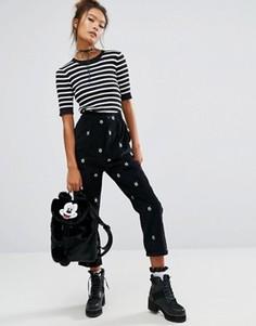 Вельветовые брюки с Микки-Маусом Lazy Oaf X Disney - Черный
