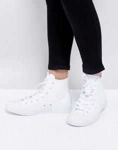 Высокие кожаные кеды Converse Chuck Taylor All Star - Белый