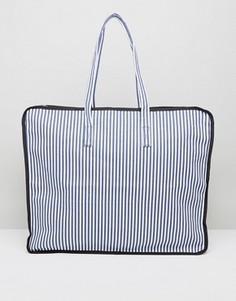Oversize-сумка для белья в полоску ASOS HERO - Мульти
