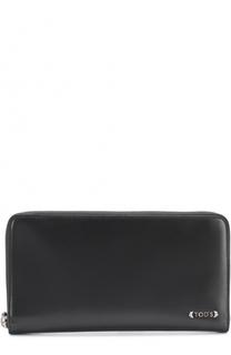 Кожаный бумажник на молнии с отделениями для кредитных карт Tod's