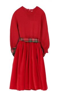 Платье джерси с поясом Caf