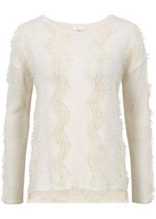 Вязаный пуловер с ажурным узором (кремовый) Bonprix