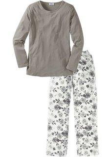 Пижама (серый/белый) Bonprix