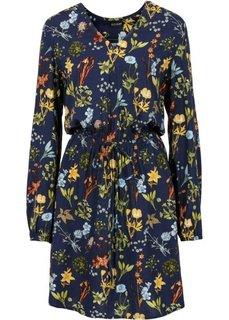 Платье с принтом (темно-синий с рисунком) Bonprix