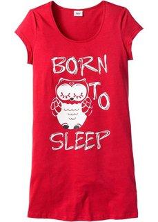 Ночная сорочка с принтом (клубничный с рисунком совы) Bonprix