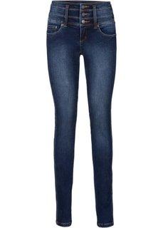 Стройнящие джинсы-стретч SLIM, низкий рост (K) (темно-синий) Bonprix