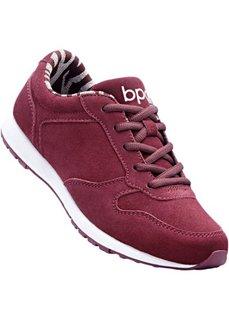 Замшевые кроссовки (бордовый) Bonprix
