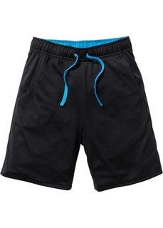 Функциональные спортивные брюки, Размеры  116-170 (черный/капри-синий) Bonprix