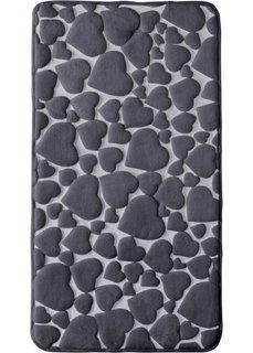 Коврик для ванной Сердце из пены-мемори (серый) Bonprix