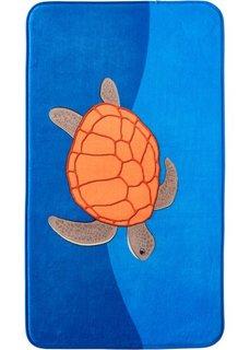 Коврик для ванной Черепаха из пены-мемори (синий) Bonprix