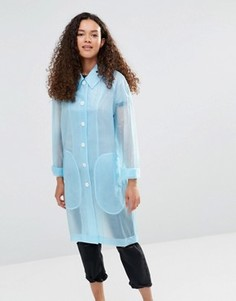 Голубой полупрозрачный дождевик YMC - Синий