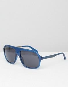 Синие солнцезащитные очки-маска Calvin Klein - Синий
