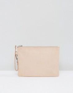 Маленький замшевый клатч Selected Femme - Розовый