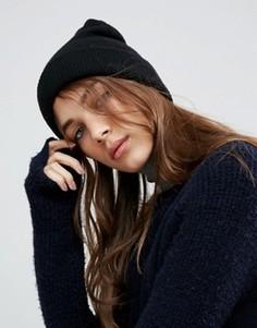 Полушерстяная шапка-бини ASOS - Черный