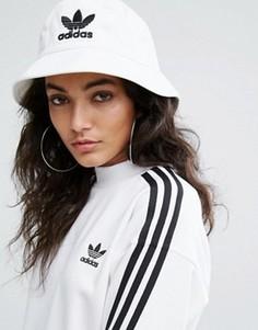 Белая панама с логотипом adidas Originals - Белый